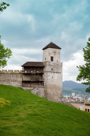 part of Trencin castle's wall