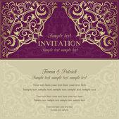 Orient invitation purple and beige