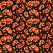 Colorful pattern with sunbird feather orange