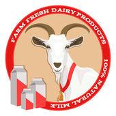 Koza a mléko, červená
