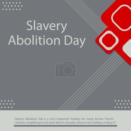 Illustration pour La Journée de l'abolition de l'esclavage est une fête très importante pour de nombreuses anciennes colonies françaises. La Guadeloupe et Saint Martin célèbrent chaque année ce jour férié le 27 mai. - image libre de droit