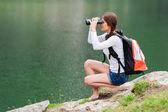 Scene from Balea Lake, Romania.
