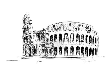 Sketch of the Roman Colosseum