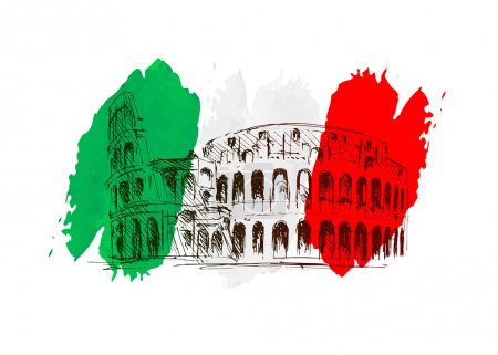 Vector background with Italy motive