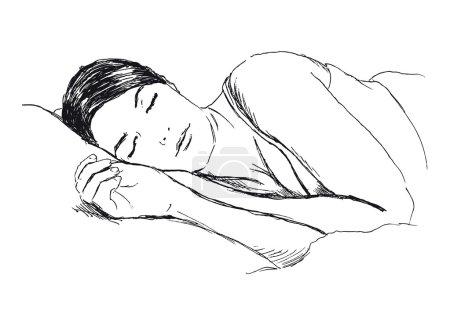 Sketch of a sleeping woman