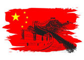 Vector background with China motive
