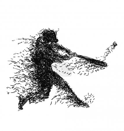 Illustration of a baseball player