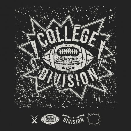 College team American football emblem and icons