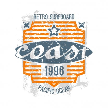 Surfing emblem