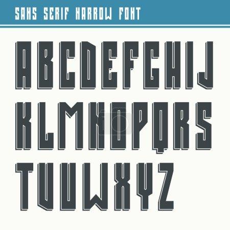 Bold sans serif font in retro style