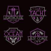 Sea badges and icons