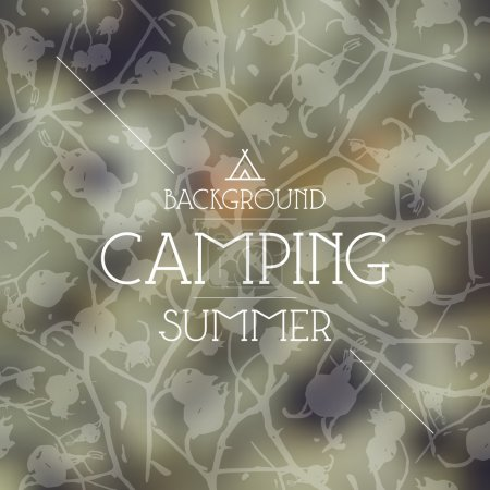 Summer camping background