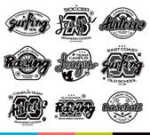 Set of sport badges Graphic design for t-shirt