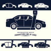Production line of cars