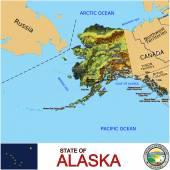 Alaska counties emblem map