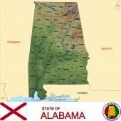 Alabama counties emblem map