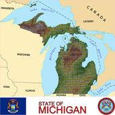 Michigan counties emblem map