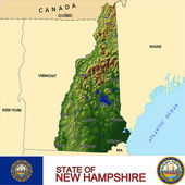 New Hampshire counties emblem map