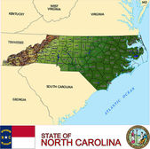 North Carolina counties emblem map