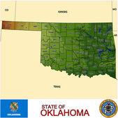 Oklahoma counties emblem map