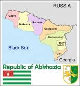 Aerial view Abkhazia Administrative divisions