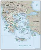 Fyzická geografie mapa Řecko