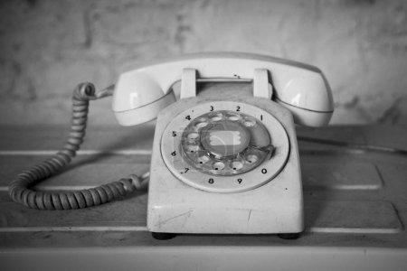 Antique white phone