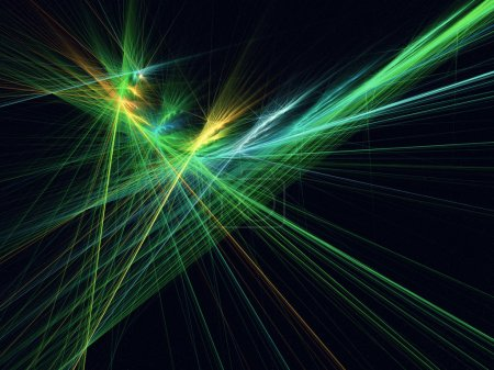 Abstract laser lights