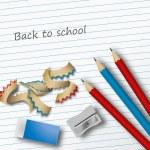 Pencils eraser and pencil sharpener vector work....