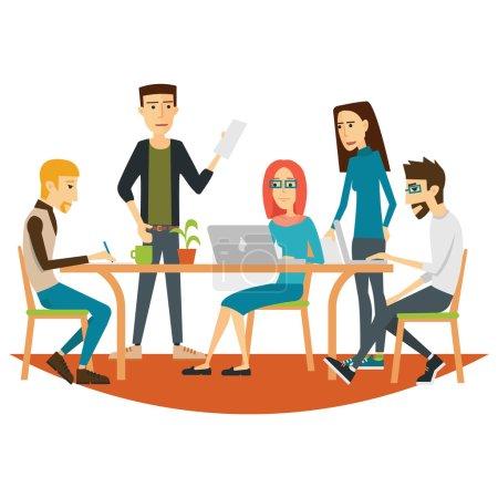 Coworking People in Meeting