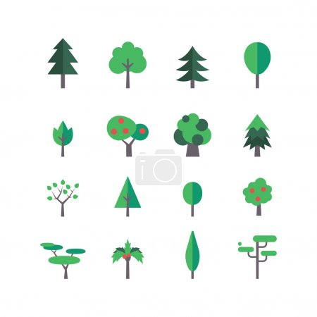 Illustration for A set of tree icons, eps 10, no transparencies - Royalty Free Image