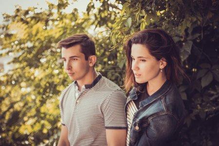 Young stylish pretty couple