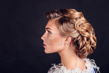 Fashion beautiful woman's hairstyle
