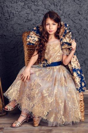 Portrait of fashion child studio shot