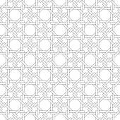 Black and white geometric seamless pattern with weave style