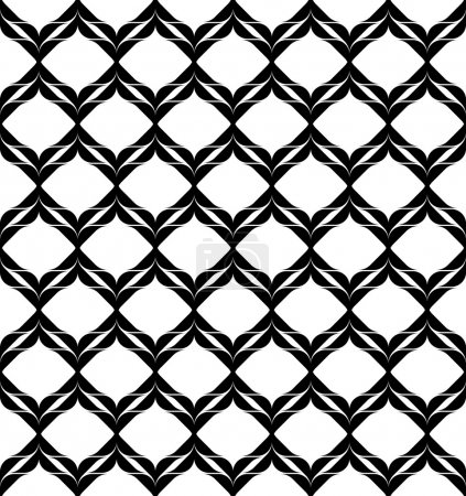 Black and white geometric seamless pattern modern stylish, abstr