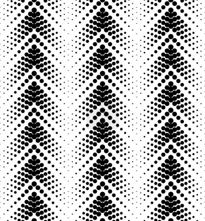 Black and white geometric seamless pattern with circle, abstract background.