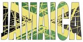 Letters Jamaica with Flag Background