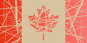 Illustration of a Worn Flag of Canada