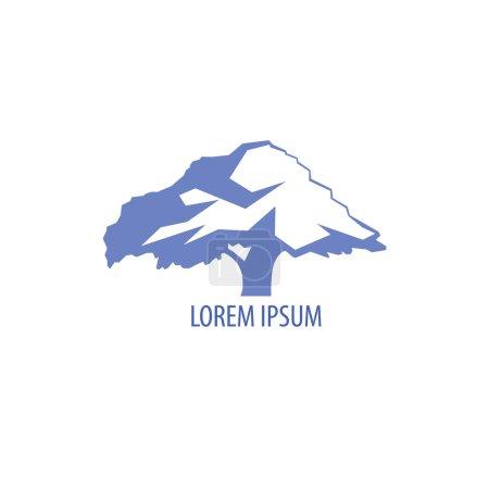 Tree logo template.