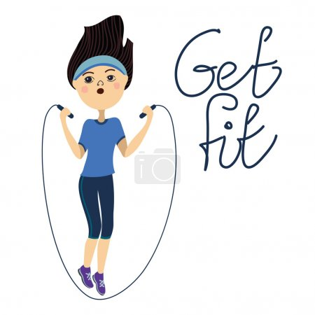 Get fit, jump rope girl