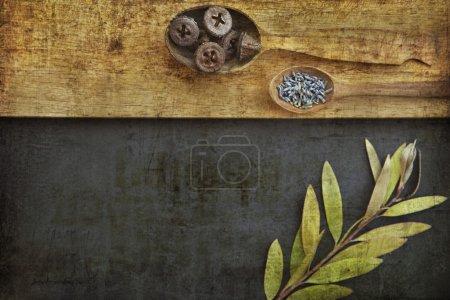 Photo pour Kitchen Restaurant menu background - image libre de droit