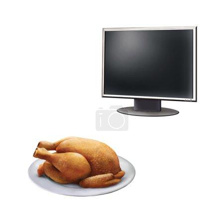 Photo pour Illustration réaliste de l'écran de télévision haute définition . - image libre de droit