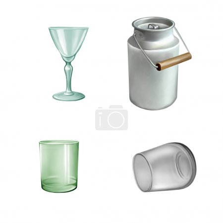 Glass tableware set