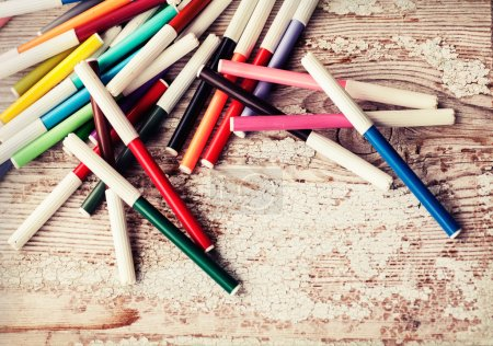 Colorful marker pens