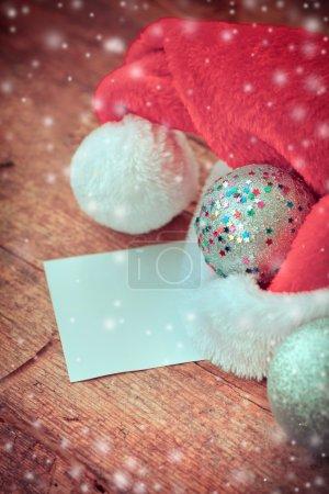 Christmas ball and Sanat's hat