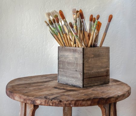 Set of old brushes