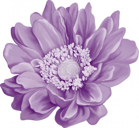Purple Mona Lisa flower