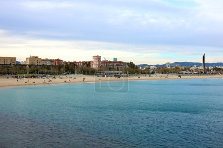 View of Barcelona on summer sunny day