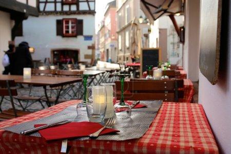 mittelalterliches Stadtbild im hysterischen Teil von Straßburg, Elsass, Frankreich